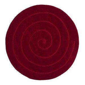 Think Rugs Spiral Red Round Rug