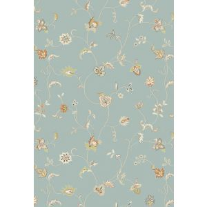 Xico Floral Rugs XI07 in Duck Egg