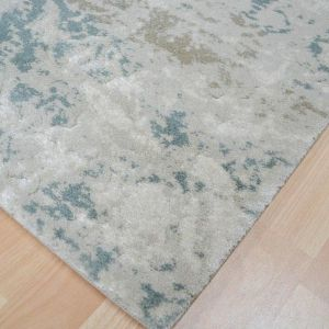 XICO XI02 Rug in Blue and Cream