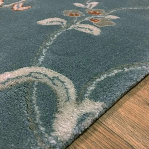 XICO XI07 Floral Rugs in Duck Egg