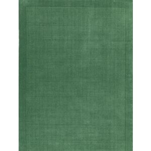 York Forest Green Plain Wool Rug by Asiatic