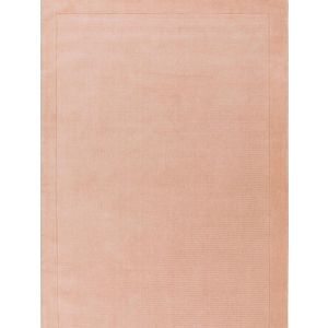 York Pink Plain Wool Rug by Asiatic