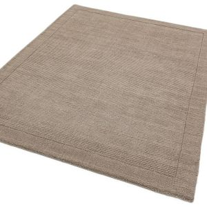 York Plain Taupe Rugs Online | Pure Woollen Pile