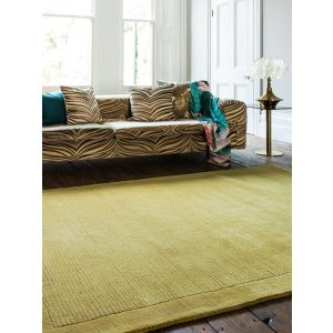 York Plain Yellow Rugs Online | Pure Woollen Pile