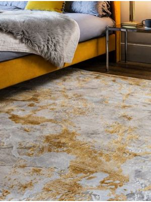 Astral Ochre Cream Marble Rug AS09 by Asiatic