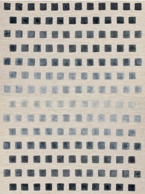 Theo Silvery Squares Geometric Wool Rug by Asiatic