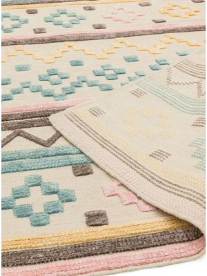 Theo Soft Tone Geometric Pastel Rug by Asiatic