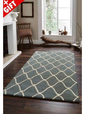 Elements EL-65 Wool Rugs in Blue for Sale UK