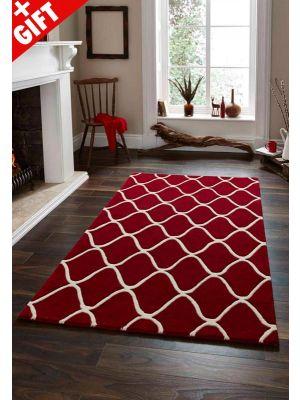 Elements EL-65 Wool Rug in Red