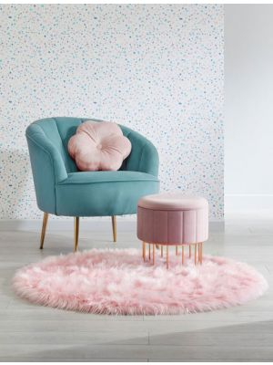 Faux Fur Round Sheepskin Rugs in Ivory by Flair Rugs