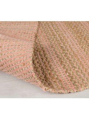 Adama Jute Chenille Natural/Pink Stripe Hallway Runner by Flair