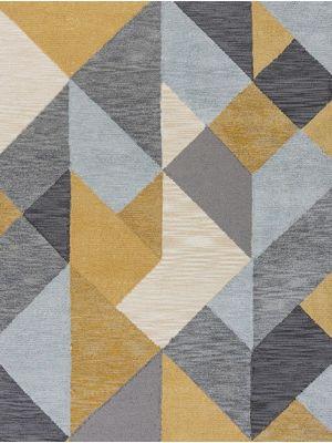 Zest Icon Geometric Rug in Ochre/Grey by Flair