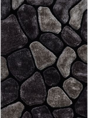 Noble House NH 5858 Black/Grey Handtufted Rugs