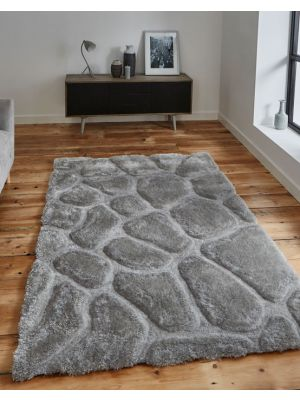 Noble House NH-5858 Silver Handtufted Rugs, Rectangle Size 150 x 230 cm