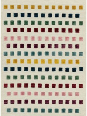 Theo Jewel Squares Wool Rug by Asiatic