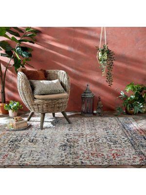 Manor Helena Multi Distressed Outdoor Rug Flatweave by Flair