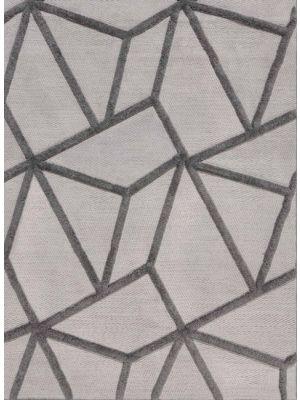 Yasmin Safi Flatweave Grey Geometric Rug By Flair