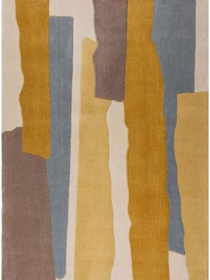 Zest Escala Abstract Rug in Ochre Yellow by Flair
